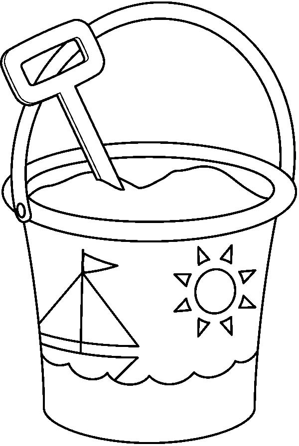 bucket and spade coloring pages download and print for free