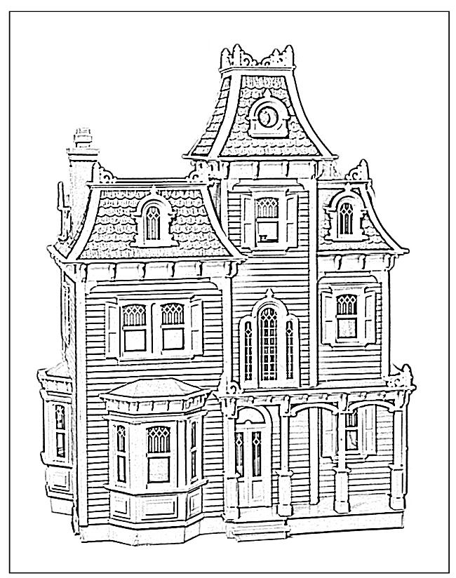 Printable Coloring Pages For Adults Houses : Victorian houses coloring pages download and print for free
