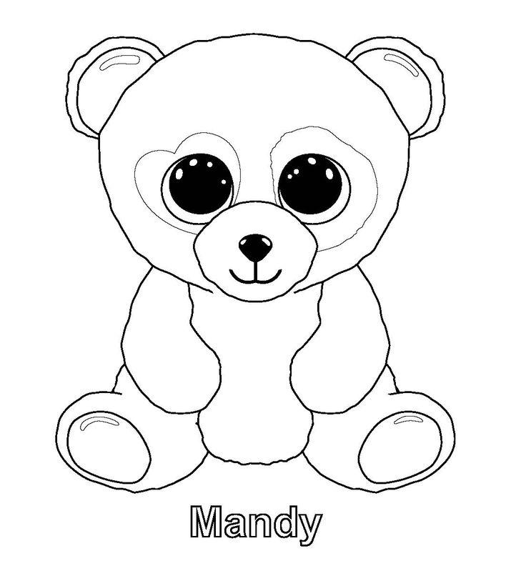 free ty beanie boo coloring pages to print for kids download print and color