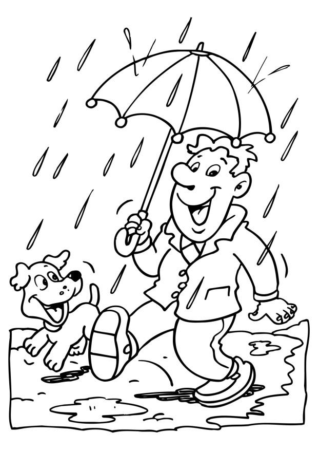 preschool rainy day coloring pages - photo#14
