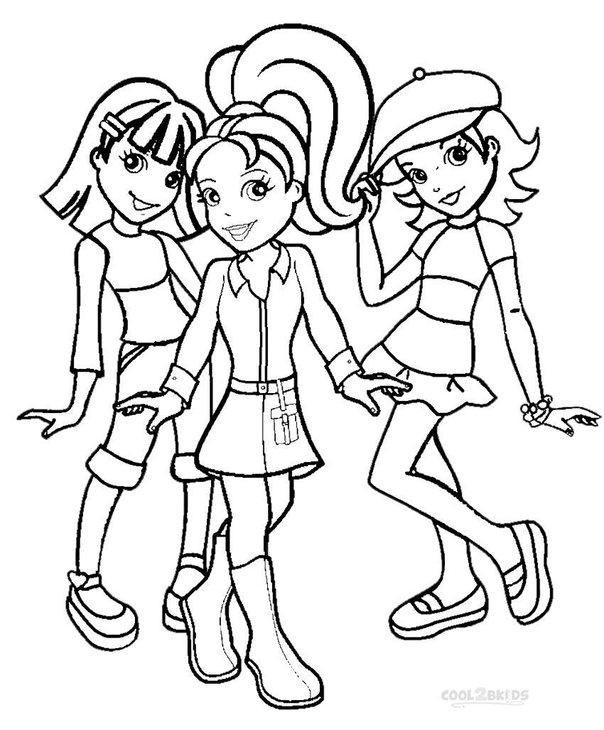 free polly pocket coloring pages - photo#16