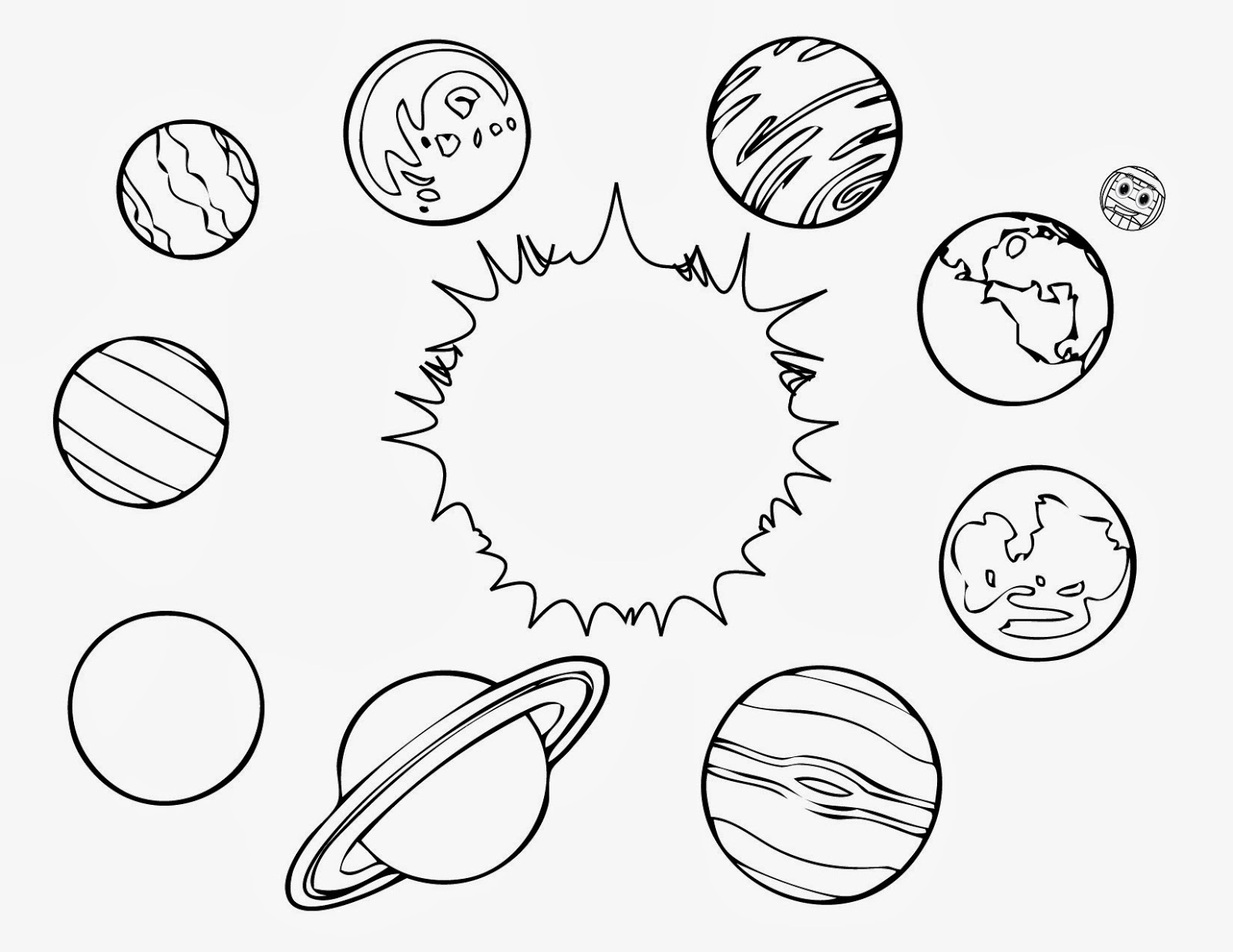 Planets Clipart Black And White