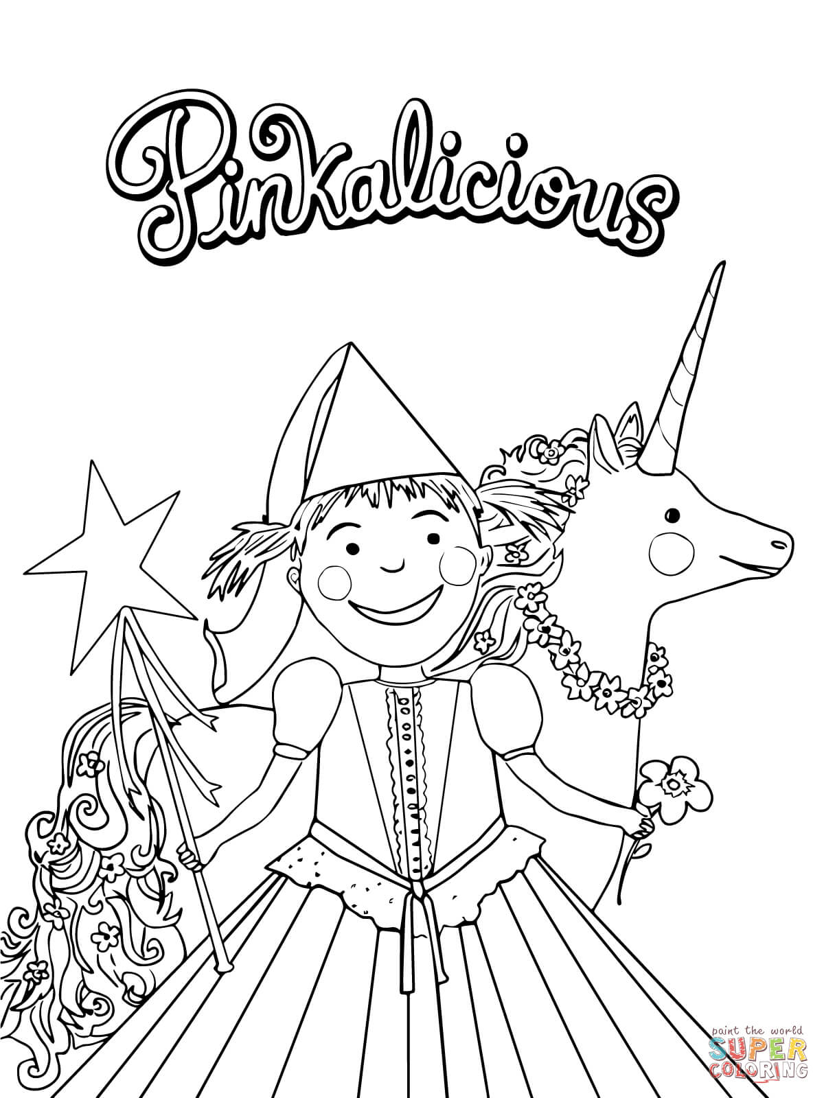 free downloadable coloring pages | Pinkalicious coloring pages to download and print for free