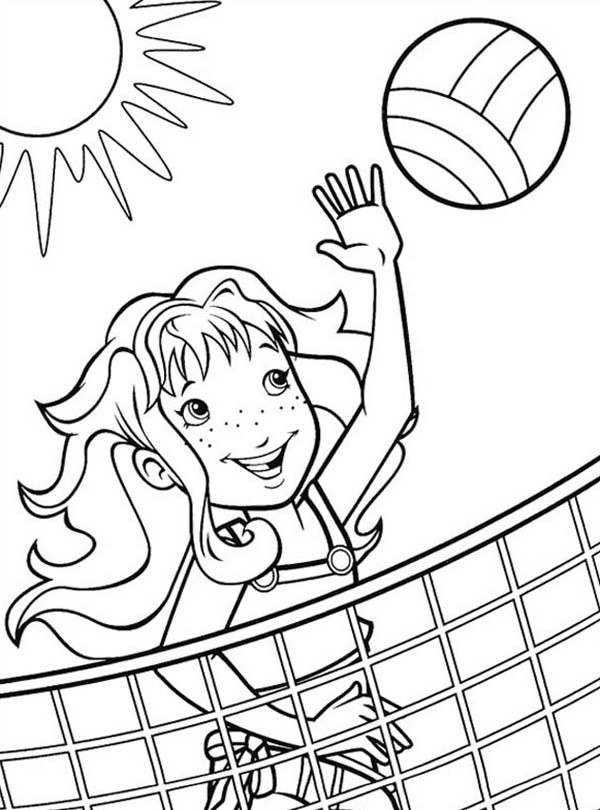 coloring pages volleyball - volleyball coloring pages to download and print for free