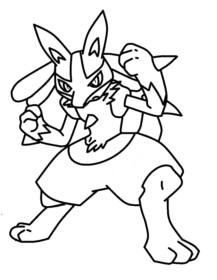 Pokemon lucario coloring pages download and print for free