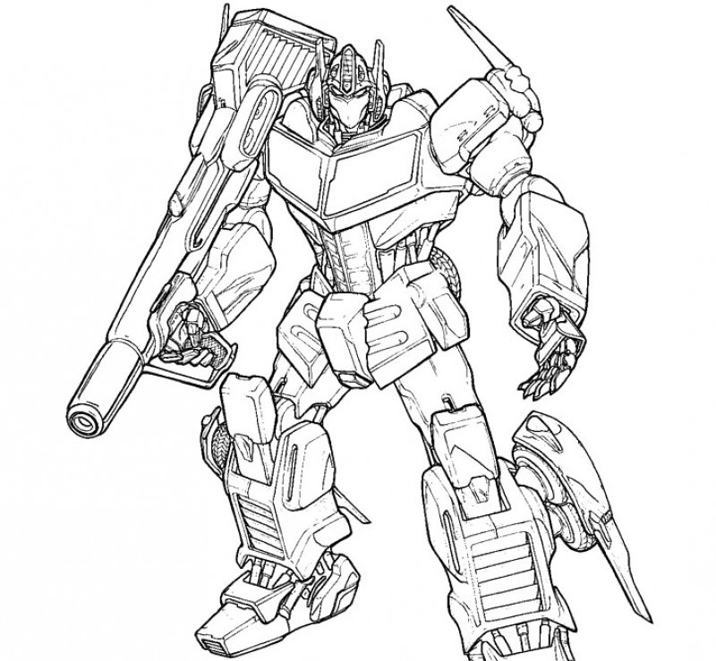 Optimus prime coloring pages to download and print for free
