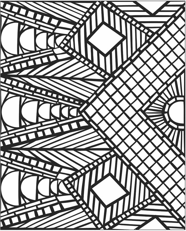 mosaic coloring pages to download and print for free - Coloring Pages With Designs