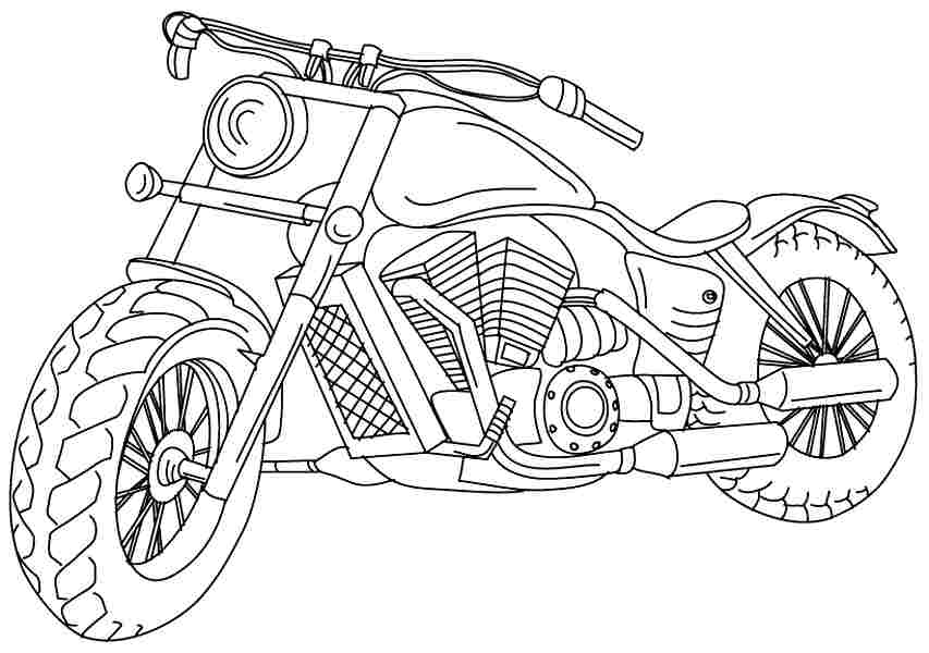 free biker coloring pages - photo#40