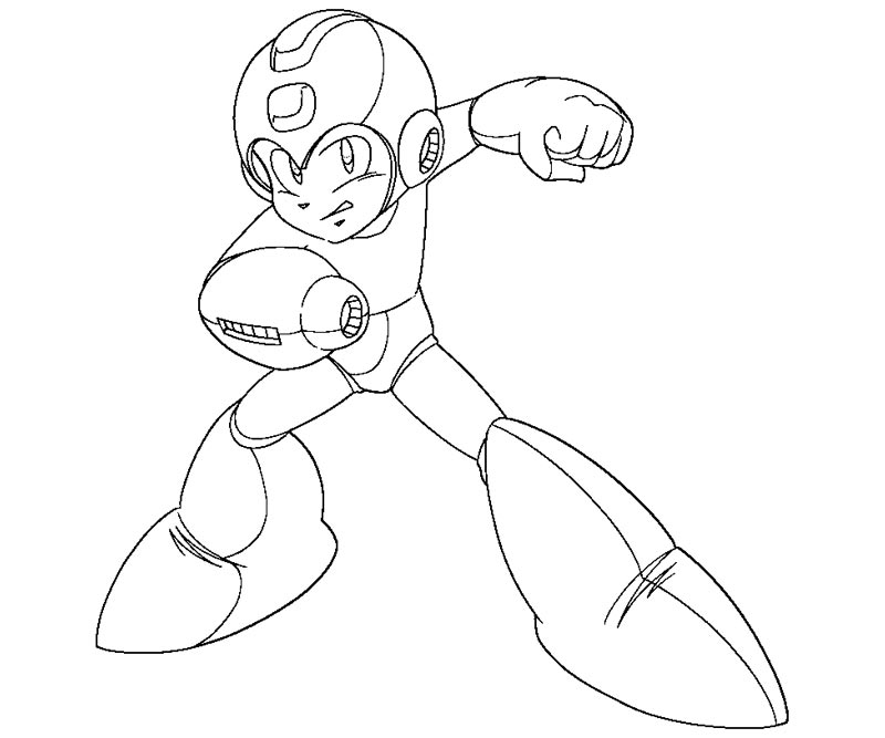 mega man coloring pages to download and print for free