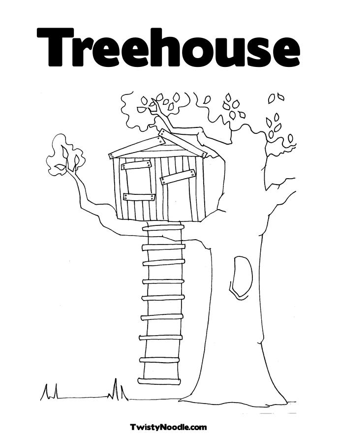 free magic treehouse coloring pages - photo#7