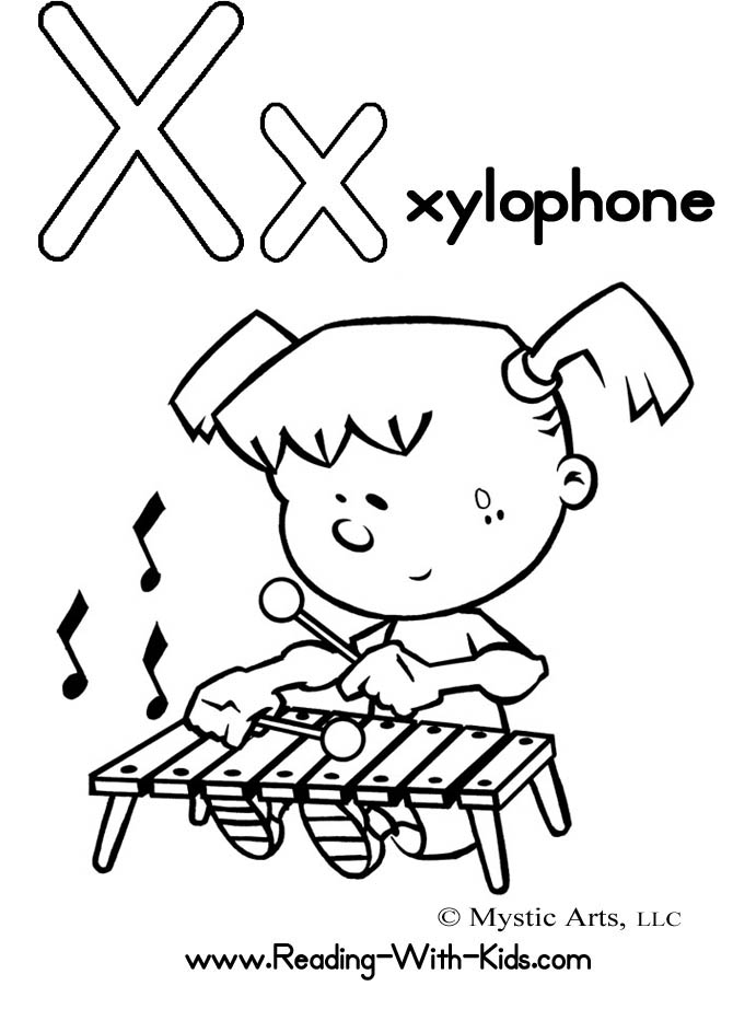 Letter x coloring pages to download