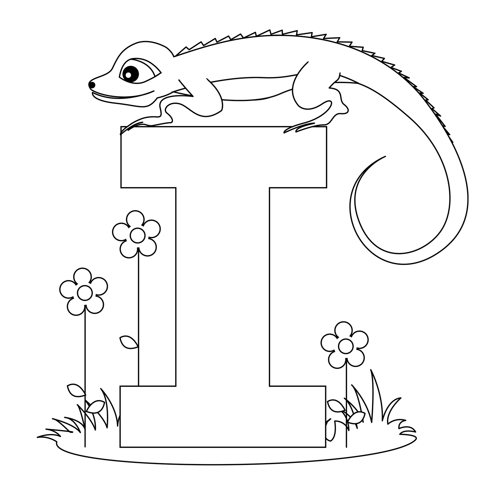 Letter i coloring pages to download