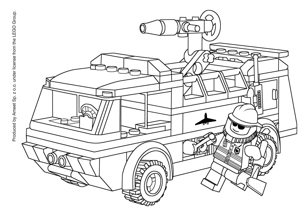 lego color page lego city coloring pages to download and print for free