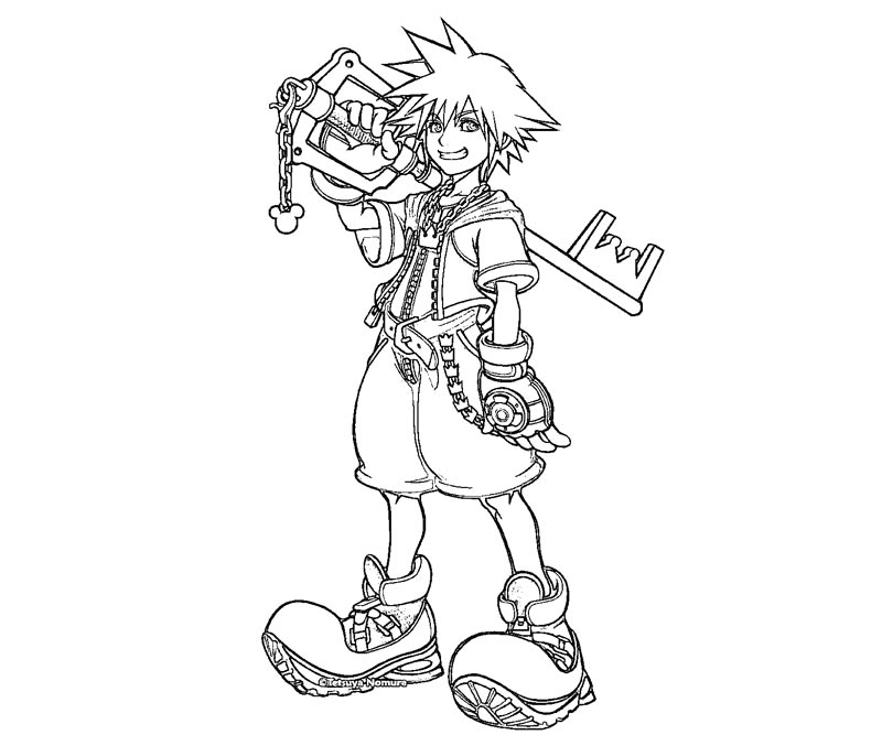 This is an image of Canny kingdom hearts coloring book