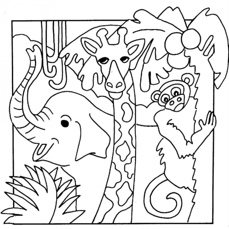 jungle animal coloring pages to download and print for free - Free Coloring Pages Animals