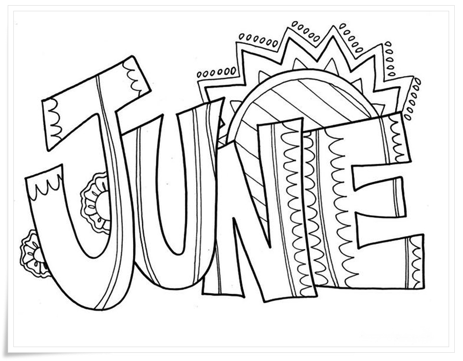 Coloring Pages Art : June coloring pages to download and print for free