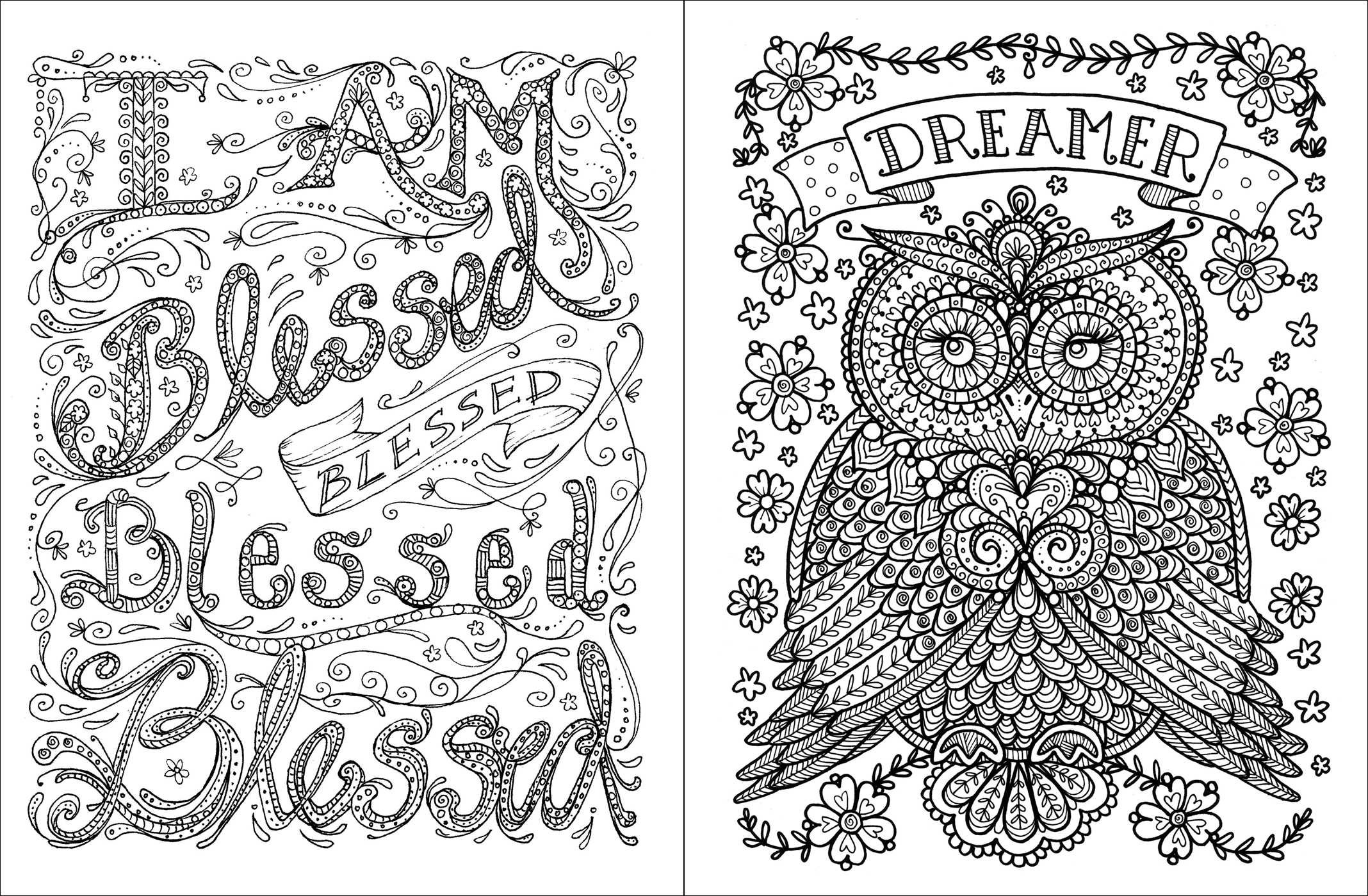Inspirational Quotes Coloring Pages For Adults : Inspirational coloring pages to download and print for free