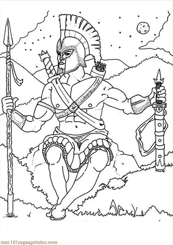 greek mythogy coloring pages - photo#12