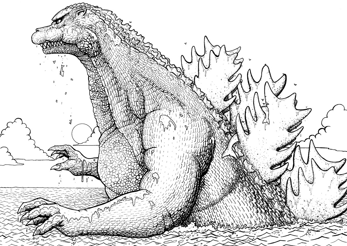 godzilla and coloring pages - photo#32
