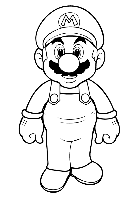 mario brothers sunshine coloring pages - photo#25