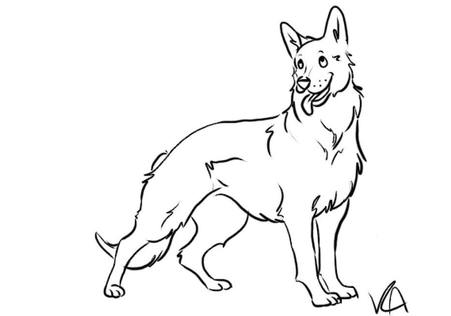 german shepherd coloring pages to download and print for free - German Shepherd Coloring Pages