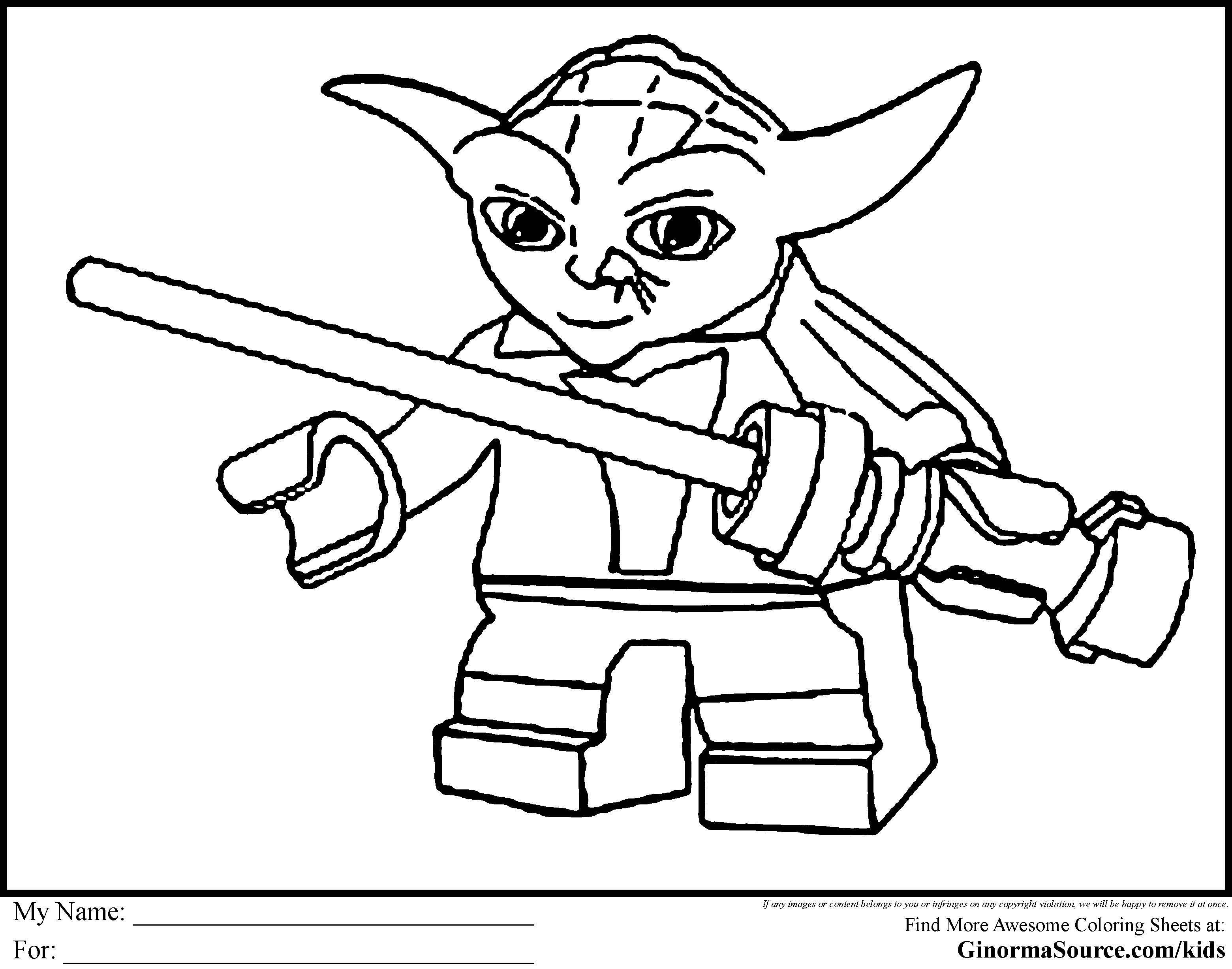 Printable Lego Colouring Pictures : Lego star wars coloring pages to download and print for free