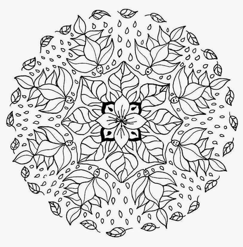 Flower mandala coloring pages to