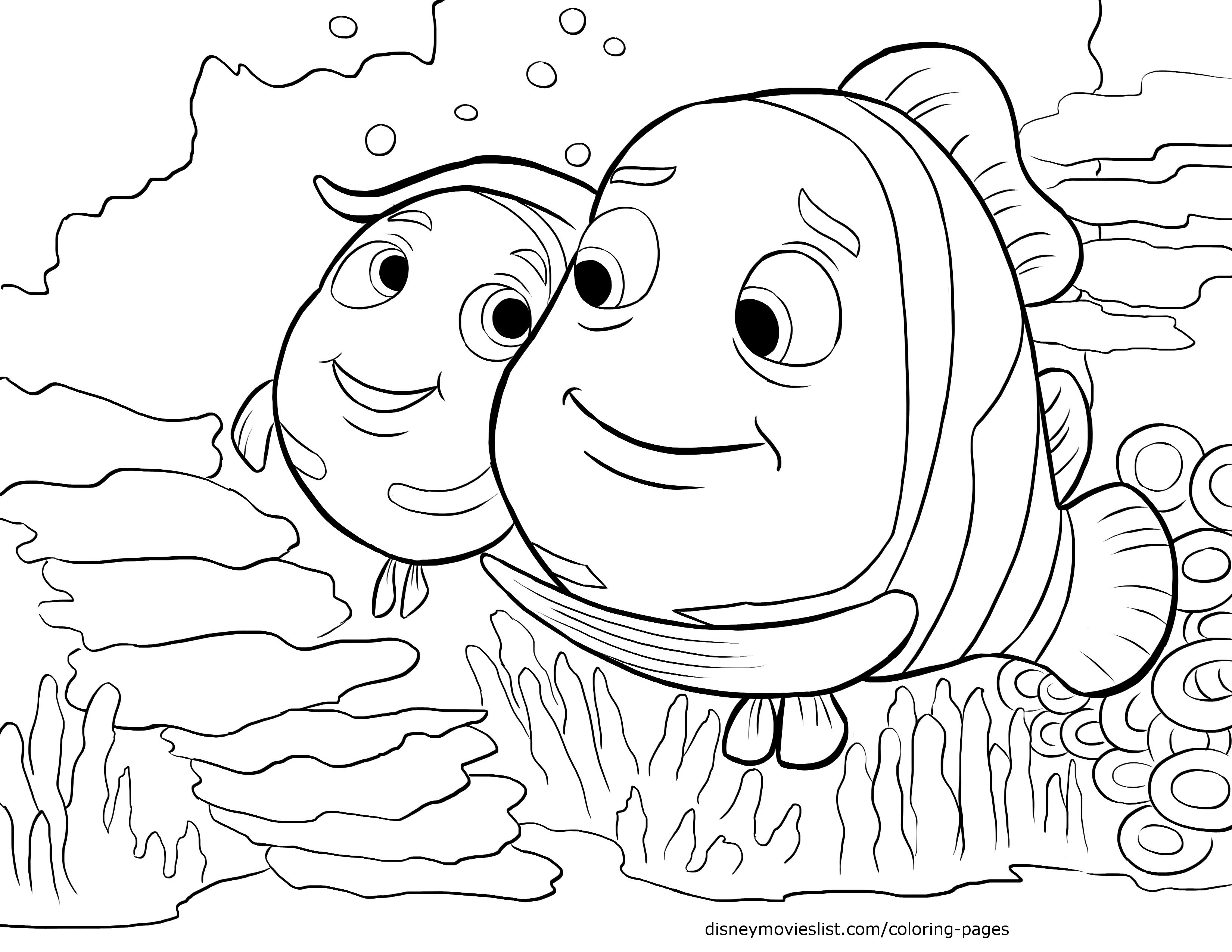 finding nemo coloring pages to download and print for free