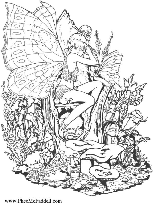 Free Fairy Coloring Pages For Adults Fairy Coloring Pages For Adults To Download And Print For Free