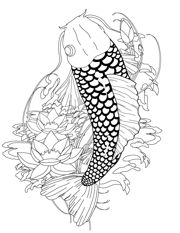 japanese fish coloring pages - photo#9
