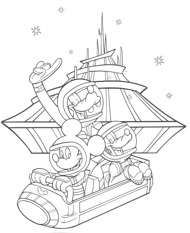 Disneyland coloring pages to download