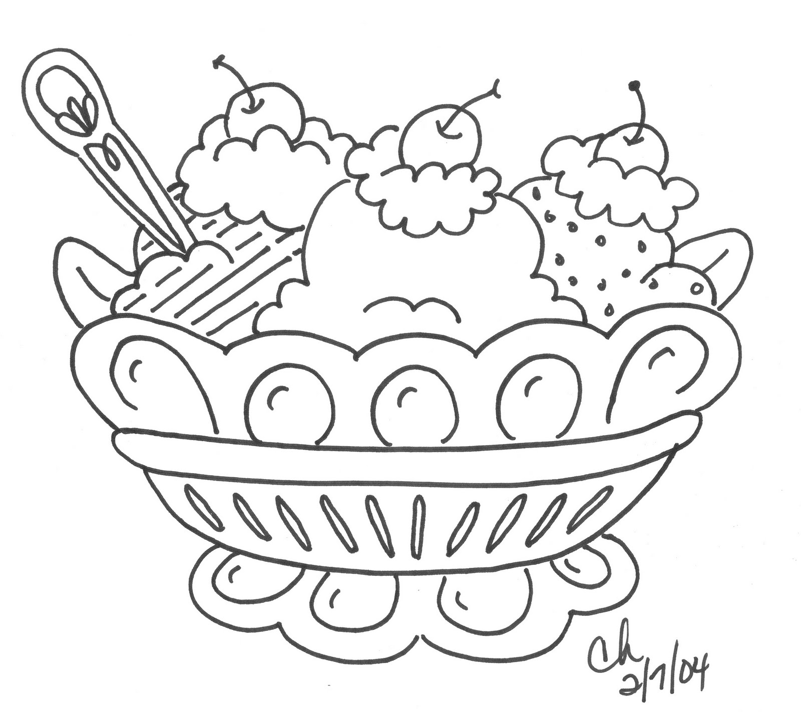 Dessert Coloring Pages Print