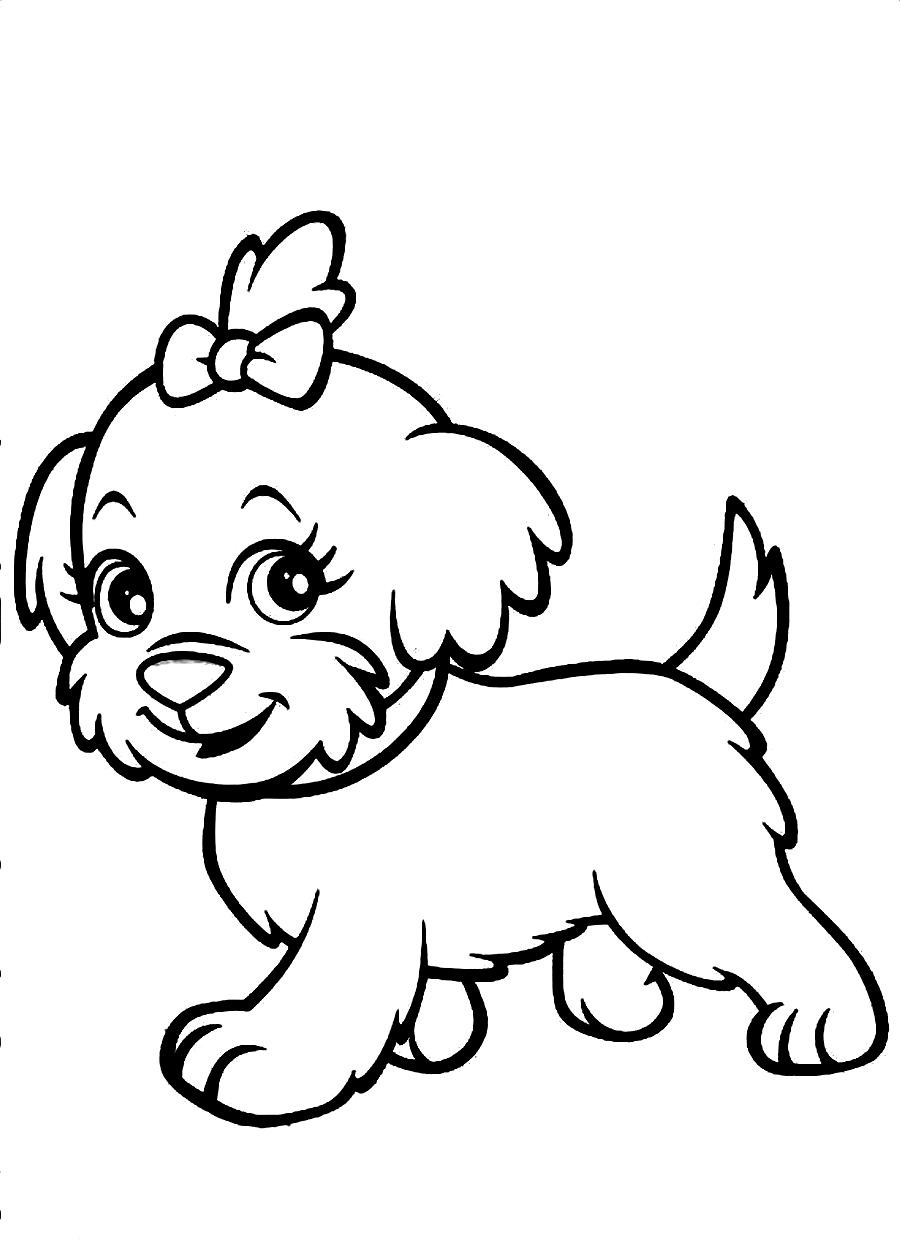 cute pictures coloring pages | Cute dog coloring pages to download and print for free