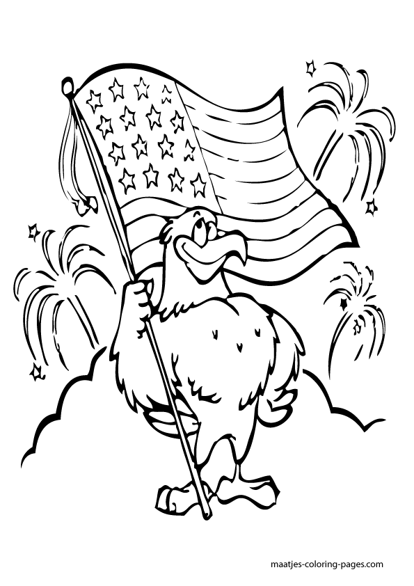 Critical image for independence day coloring pages printable