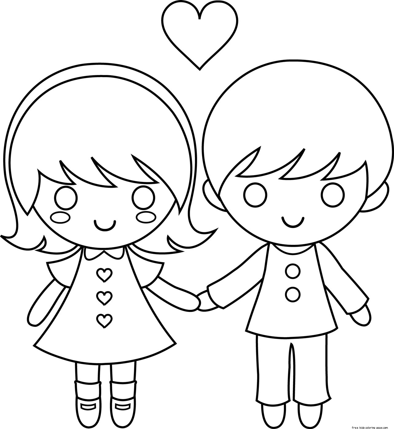 couples2 free coloring pages - photo#24