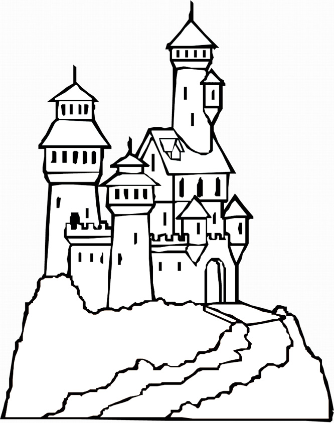 free inner castle coloring pages - photo#20