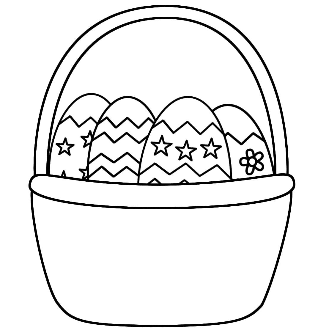 Coloring Book Easter Basket - Worksheet & Coloring Pages