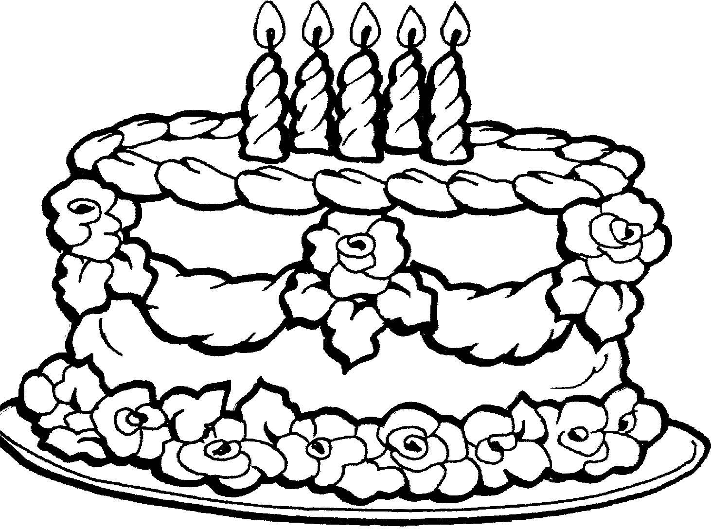 Раскраски с тортом