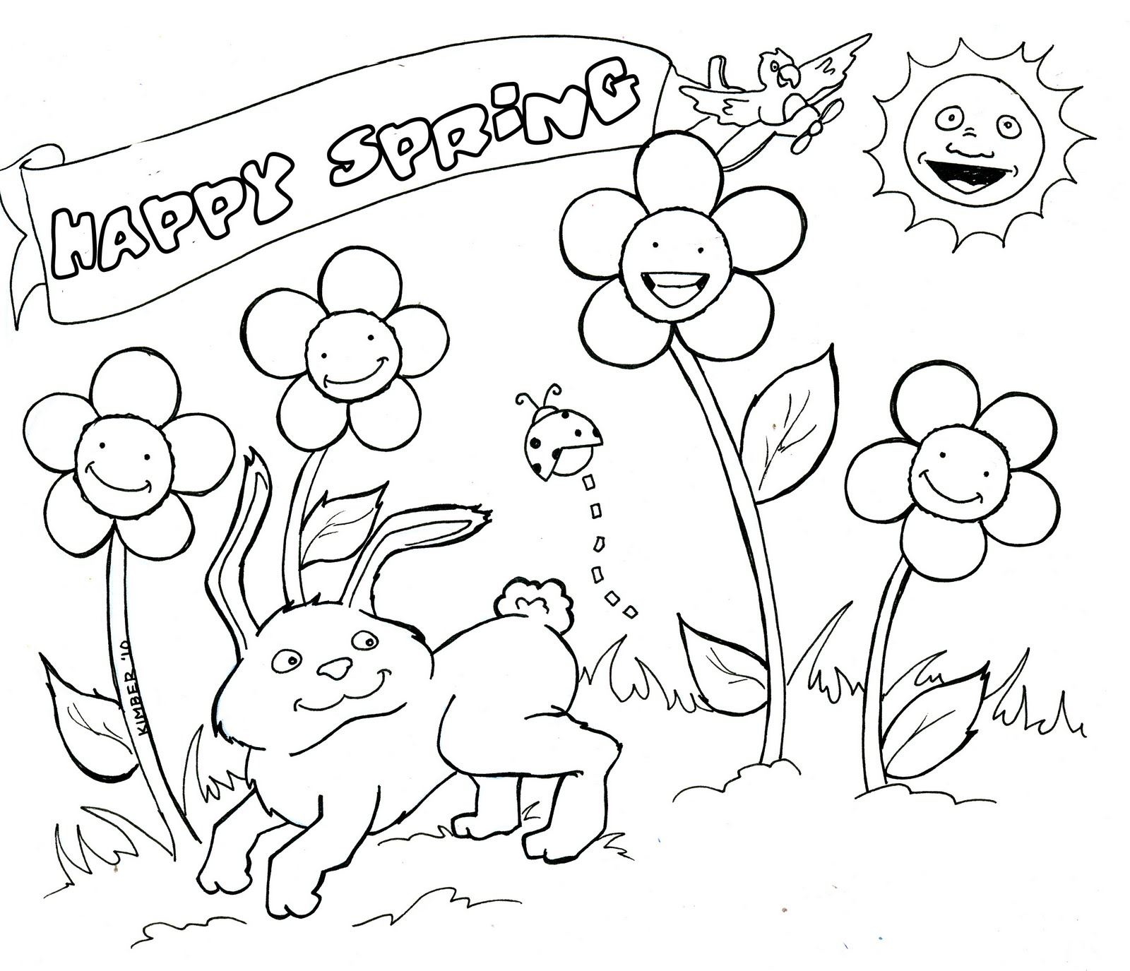 april coloring pages to download and print for free - May Coloring Pages