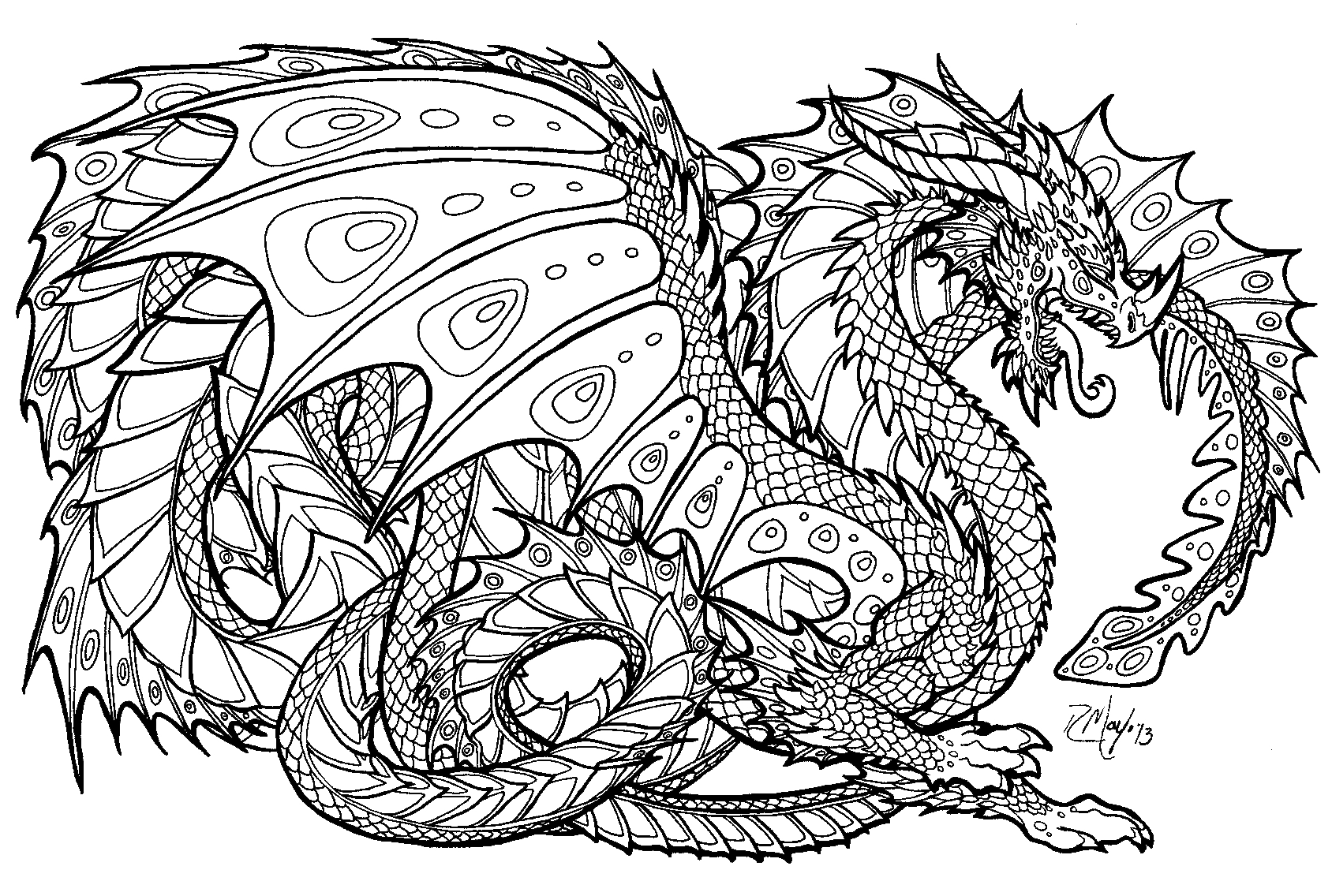 detailed coloring pages for free - photo#1
