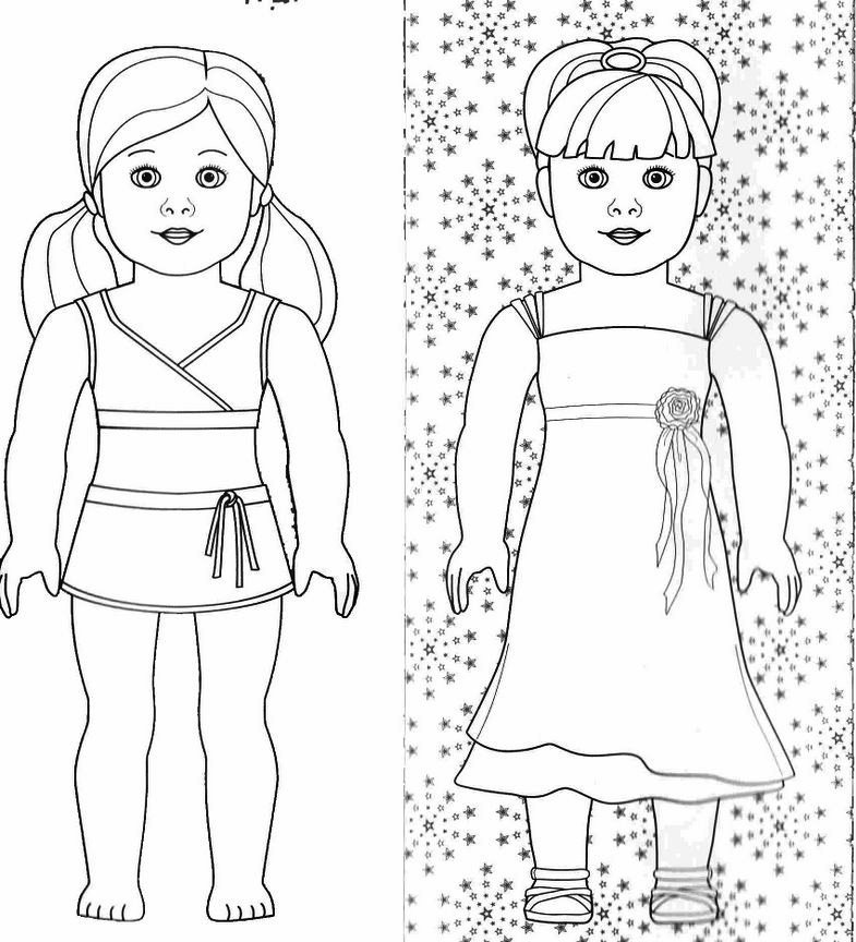 american girl printable coloring pages - photo#15