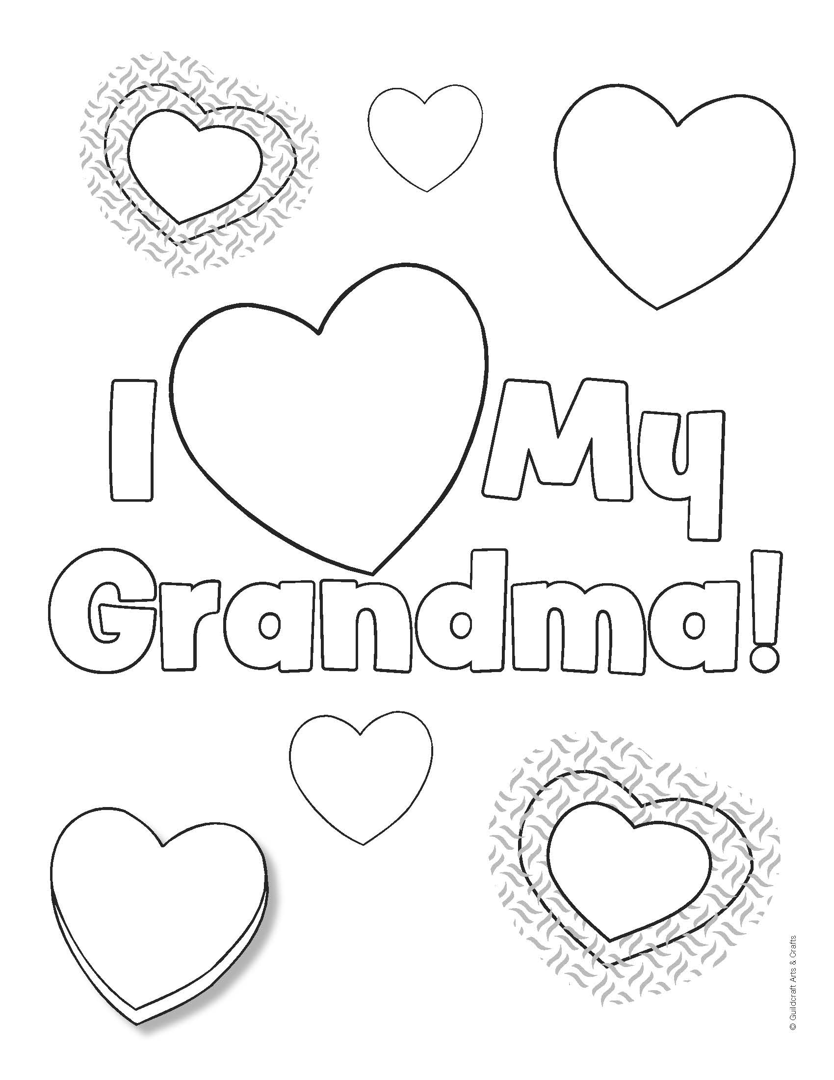 Grandma coloring pages download
