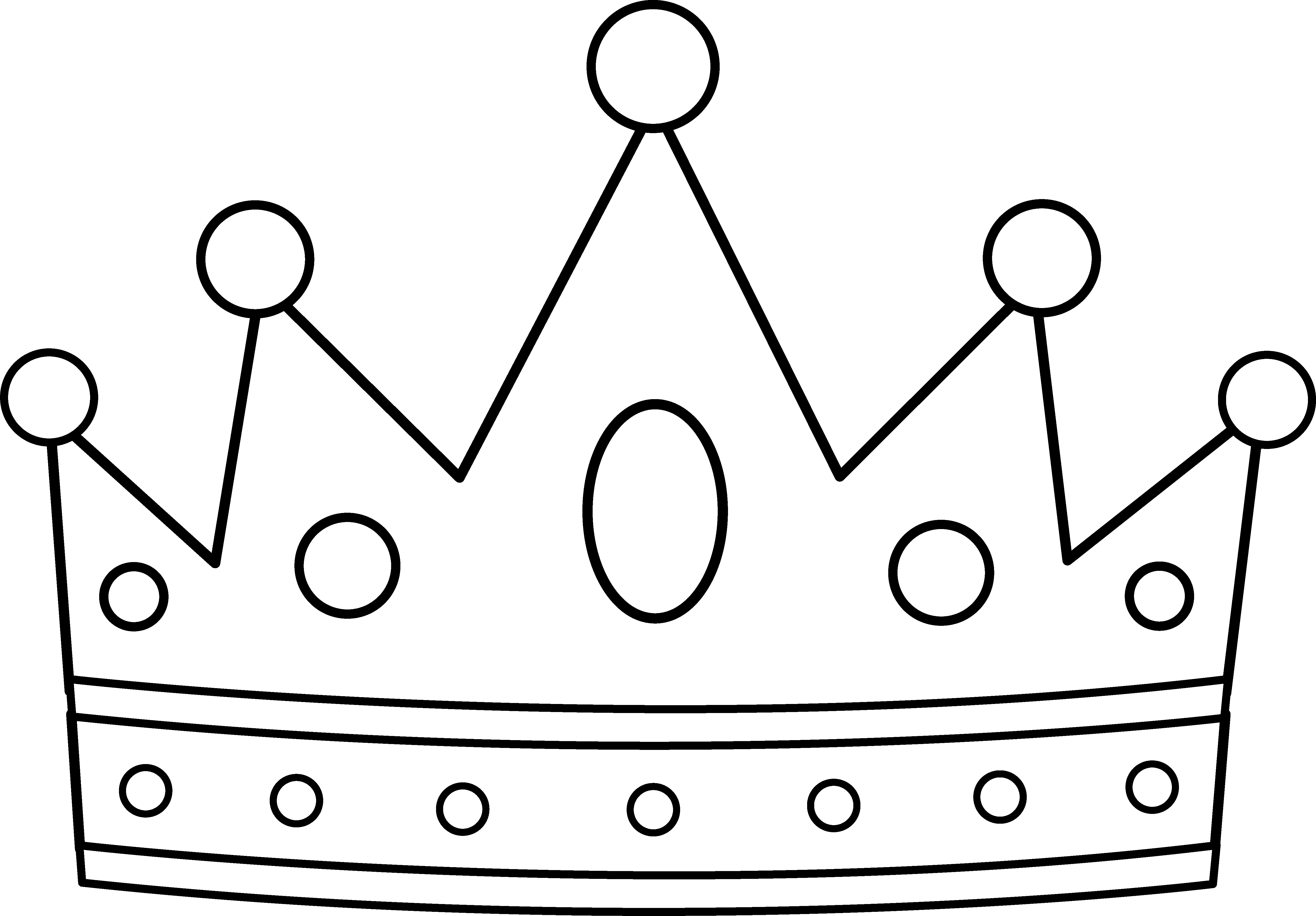 Modest image inside crown printable