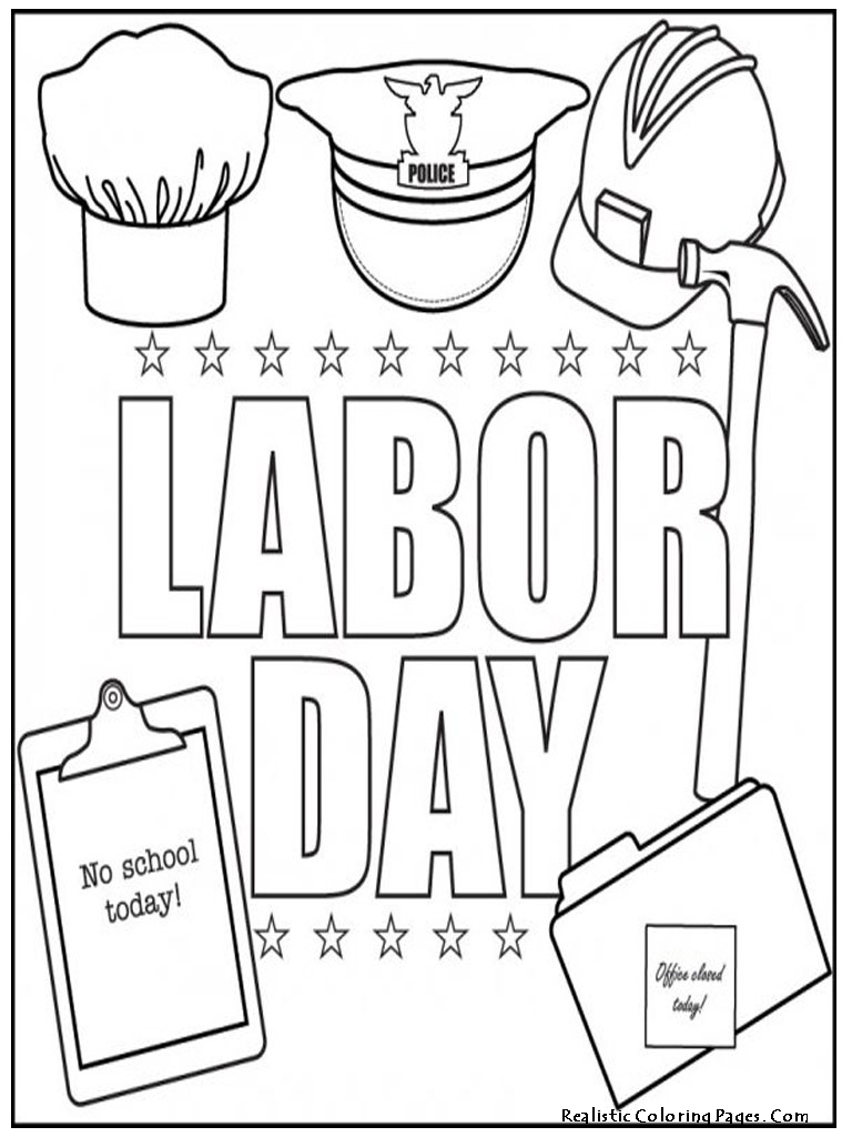 Labor day coloring pages to download