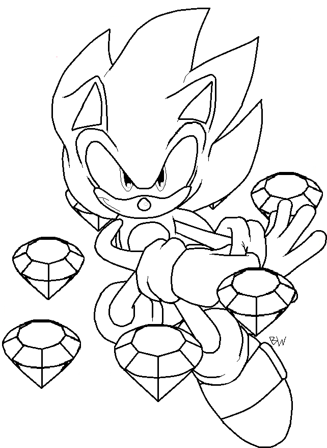 Super sonic coloring pages to download
