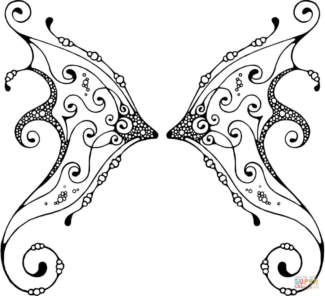 fairy wing coloring pages download and print for free - Sprout Super Wings Coloring Pages