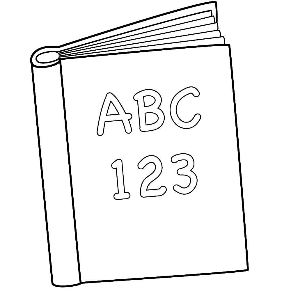book coloring pages - photo#2
