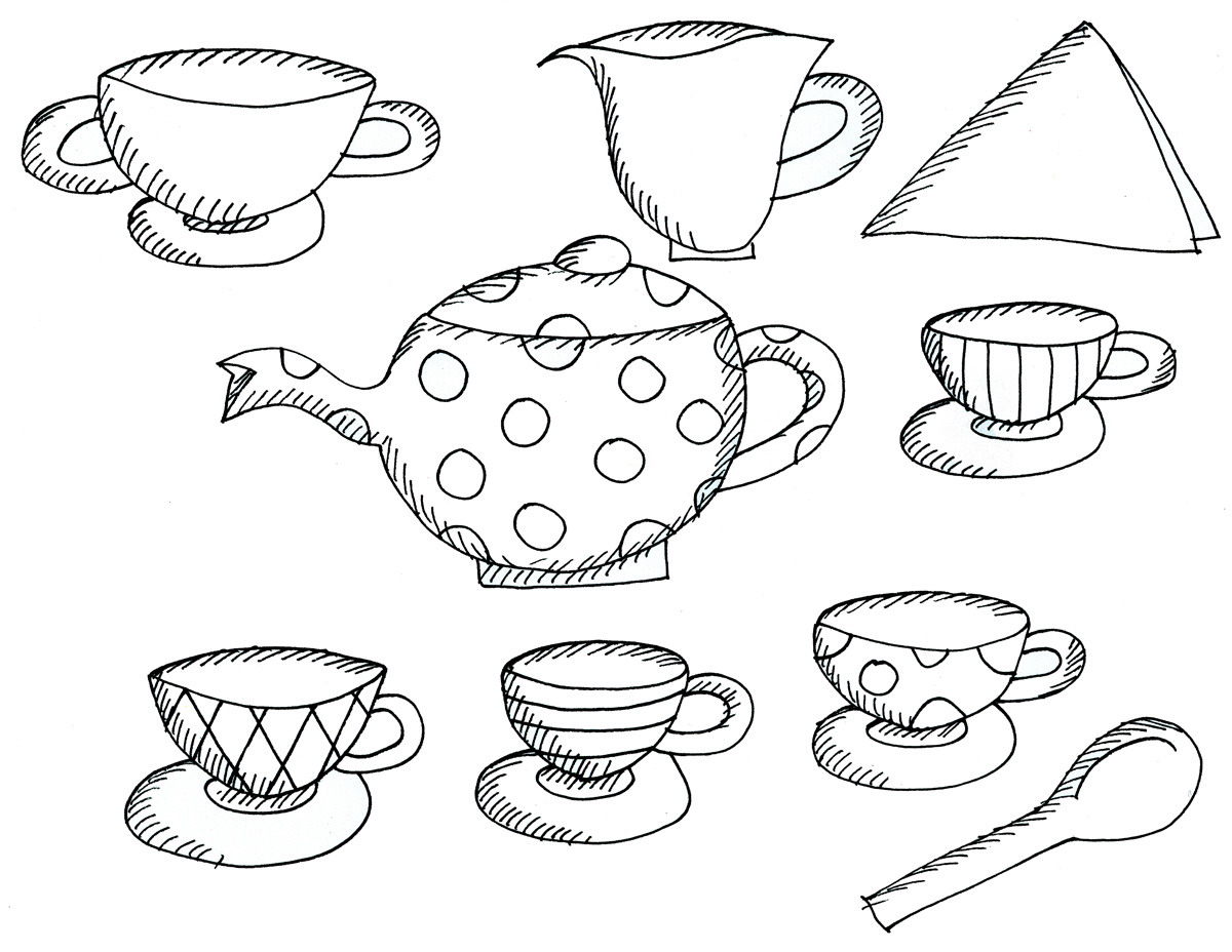 tea coloring pages - photo#25
