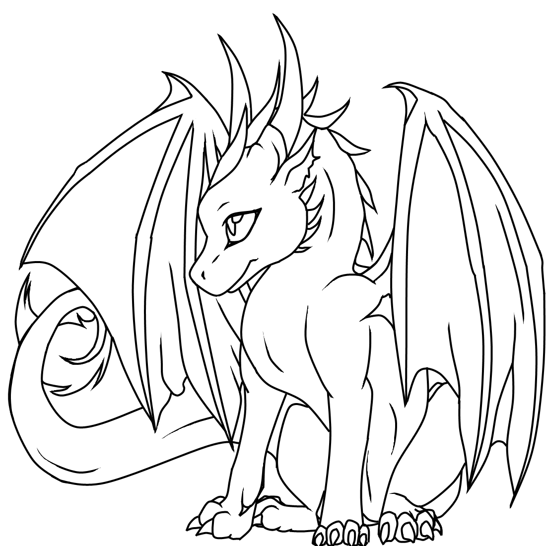 Free coloring pages dragons