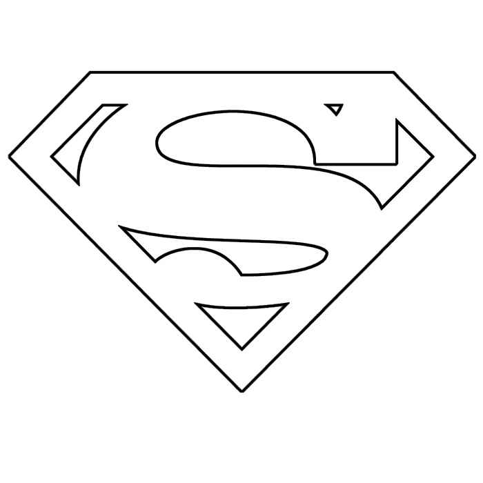 superman logo coloring pages | Superman logo coloring pages to download and print for free